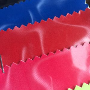 Hot Melt Glue Glitter Leather for Clothing and Bag Label Printing Hx-0736 pictures & photos