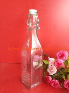 Wine Bottle, 1000ml Glass Bottle, Square and Round Shape. Canvas Cover pictures & photos