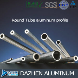 Aluminum Rond/ Square Tube 6063 Aluminum Extrusion Profile pictures & photos