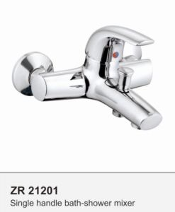 Wall Mounted Single Handle Zinc Shower Bath Faucet Tap pictures & photos