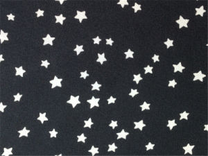 Discharge Printed Silk Cdc in Stars Pattern pictures & photos
