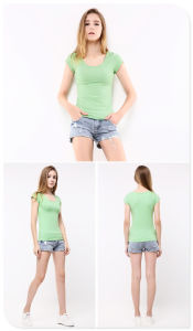 Fashion Plain Cotton T-Shirt with Different Colors pictures & photos