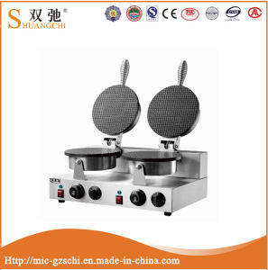 2-Head Waffle Cone Baker Ice Cream Cone Maker for Sale pictures & photos