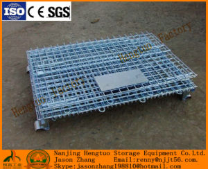 Collapsible Welded Storage Wire Mesh Containers Warehouse Usage pictures & photos