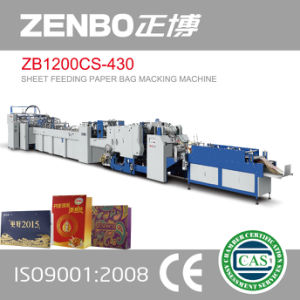 Zb1200CS-430 Sheet Feeding Paper Bag Making Machine for Shopping Bag pictures & photos