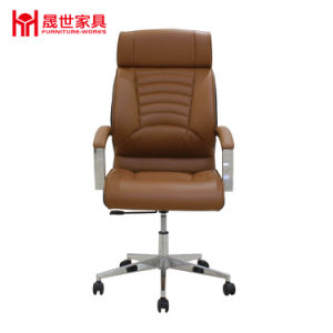 Classic Five-Star Base Leather Swivel Office Chair with Factory Price pictures & photos