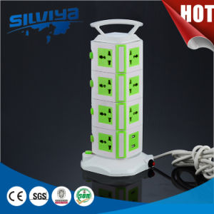 16 Way Portable Tabletop Socket with Surge Protector pictures & photos