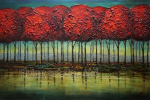 Colorful Abstract Tree Oil Paintings pictures & photos