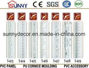 PU Cornice Molding Crown Mouldings Polyurethane Cornice for Decoration pictures & photos