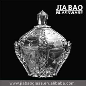 Engraved Decorative Spray Color Glass Candy Jar pictures & photos