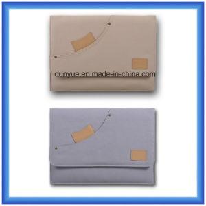 Factory Make Eco-Friendly Cotton Canvas Tablet Bag, Simple Design Custom Laptop Sleeve, Laptop Briefcase pictures & photos