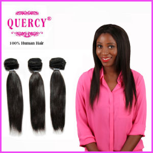 Fashion Style 100% Indian Straight Virgin Hair Machine Made Weft pictures & photos