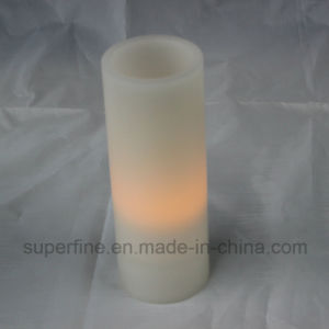 Long Wax LED Flameless Soft Glittering Christmas Ornamental Wax LED Candles with Battery Operated pictures & photos