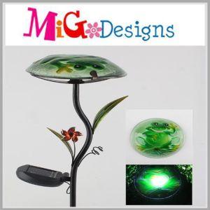 OEM Metal Glass Mushroom Shaped Solar Light Stake pictures & photos