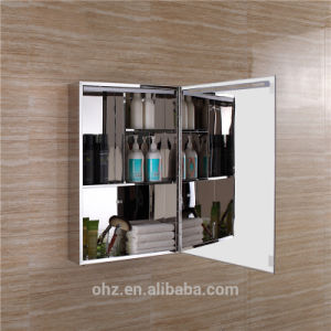 High Grade Waterproof 304 Stainless Steel Bathroom Mirror Cabinet with LED pictures & photos