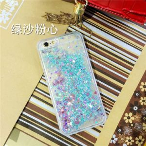 3D TPU Liquid Sand Glitter Heart Type Case Quicksand Phone Case for iPhone 5 6 Mobile Phone Cover Case pictures & photos