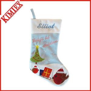 Top Sale Fleece Santa Christmas Stocking pictures & photos