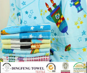 100% Cotton Velour Reactive Printed Beach Towel Df-3599 pictures & photos