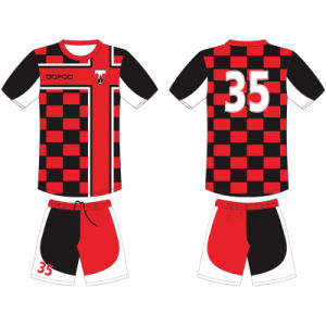 Personlised Kids Sublimated Football Uniform for Children pictures & photos