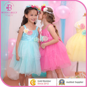 Bonnybilly New Collection Tutu Dress Children Girl Summer Clothing