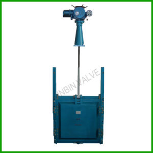 Motorised Slide Damper Gate Valve with Hoist-Manual Gate Valve pictures & photos