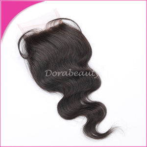 Human Hair Brazilian Lace Closure Remy Virgin Hair pictures & photos