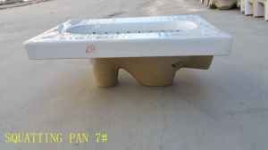 Hot Ceramic Water Saving with S-Trap Squatting Pan 7# pictures & photos