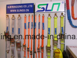 SLN 5m X 25mm Ratchet Tie-Down with Double J Hook pictures & photos