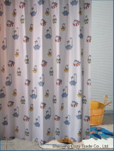Multi-Color Baby Kid Cartoon Design Polyester Shower Curtain pictures & photos