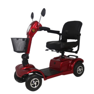 Foldable 4 Wheel Electric Handicapped Tricycle for Elderly Person pictures & photos