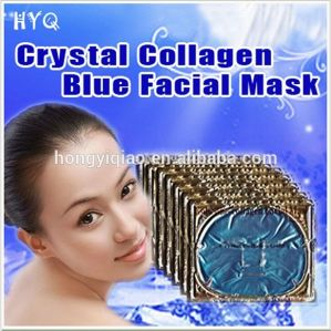 Gold Bio Crystal Collagen Blue Facial Mask Moisturizing Whitening Facial Mask pictures & photos