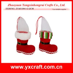 Christmas Decoration (ZY16Y194-1-2 12CM) Christmas Ornaments Christmas Tree Hanging Boot Product pictures & photos