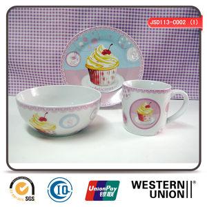 3PCS Children Ceramic Tableware pictures & photos
