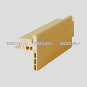 No Formaldehyde WPC Plastic Wood Door Frame with SGS Certificates (PM-120T) pictures & photos