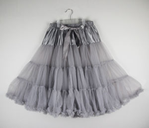 Expension Chiffon Adult Lacing Tutu Skirt pictures & photos