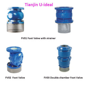 Sure Seal Foot Valve with Strainer; Cast Iron Bottom Valve; pictures & photos