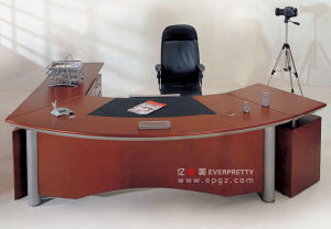 Wood Executive Table / Wood Manager Table / Wood Executive Desk with Filing Cabinet pictures & photos