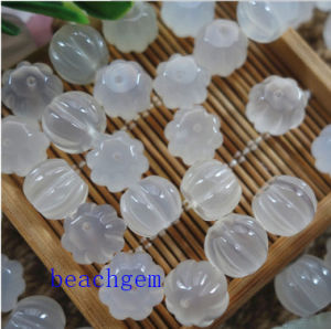 Natural White Jade Carved Beads pictures & photos