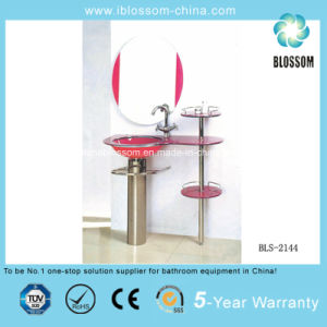 Floor-Mounted Glass Bathroom Furniture Bls-2144) pictures & photos