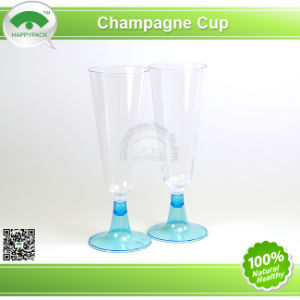 Plastic Champagne Glass with Colour Base pictures & photos