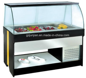 Cheering Wood Buffet Display Fridge for Sale/Display Salad Counter Fridge pictures & photos