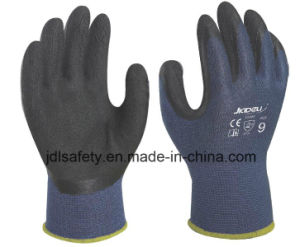 Bamboo Fiber Work Glove Coated with Black Foam Latex (L3014) pictures & photos
