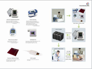 Telemedical Electronic Sphygmomanometer+Blood Glucose Meter+Pulse Oximeter+Scale Remote Product pictures & photos