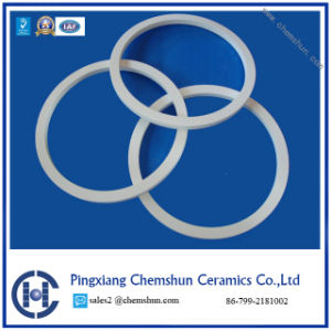 Isostatic Pressed Al2O3 Ceramic Cylinder Ring for Wear Resistant Solution pictures & photos