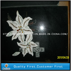Shanxi Black Granite Stone Shadow Carving with Flower Pattern pictures & photos