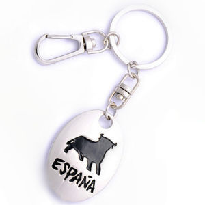 Promotional Gift Zinc Alloy Spain Key Chain with Logo (F1104) pictures & photos