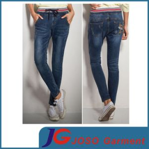 Women′s Sexy Waist Denim Trousers Slim Curve Skinny Jeans (JC1236) pictures & photos