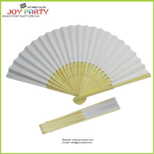 White Paper Hand Held Fan pictures & photos