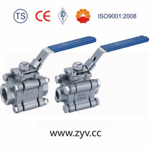 3 Pieces Stainless Steel Threaded End Ball Valve pictures & photos