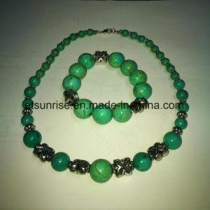 Fashion Turquoise Beaded Graduated Necklace pictures & photos